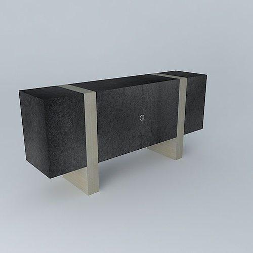 block console small 3d model max obj mtl 3ds fbx stl dae 1
