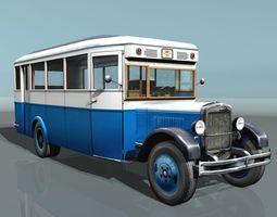 3D model ZIS-8 city bus