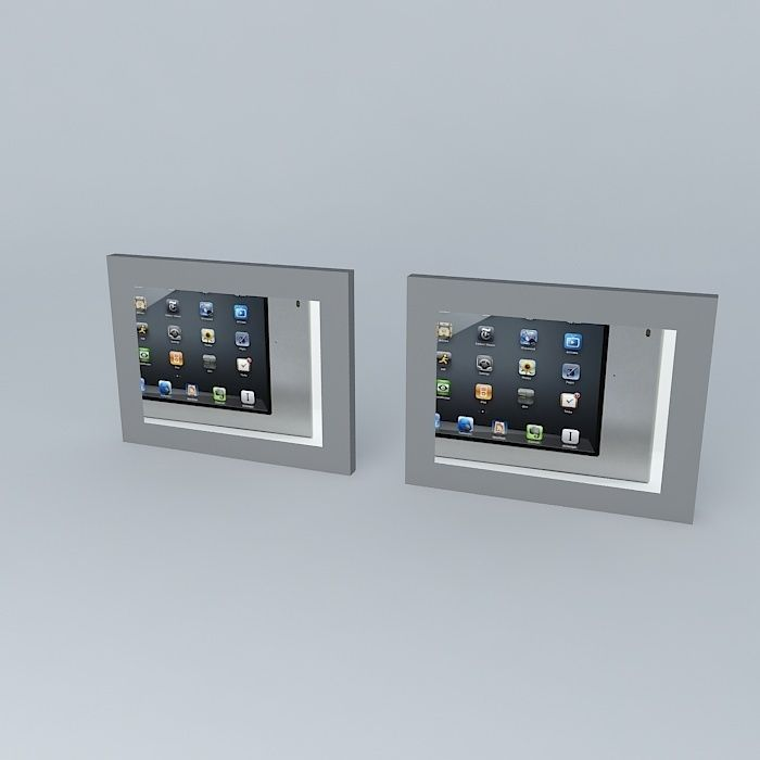 ipad wall mounted home control units 3d model max obj 3ds fbx stl dae 2
