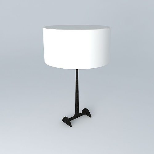 Table lamp 3d model max obj 3ds fbx stl dae for Table lamp 3ds max