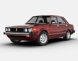 3d model honda accord 1977