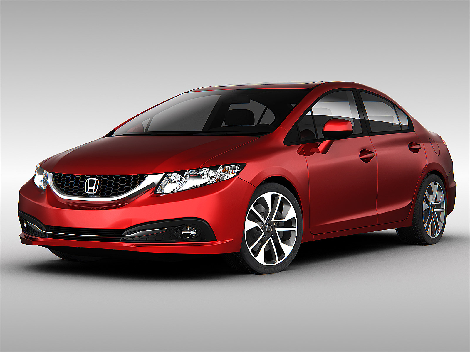Honda civic 2013 3d model max obj 3ds fbx for 94 honda civic