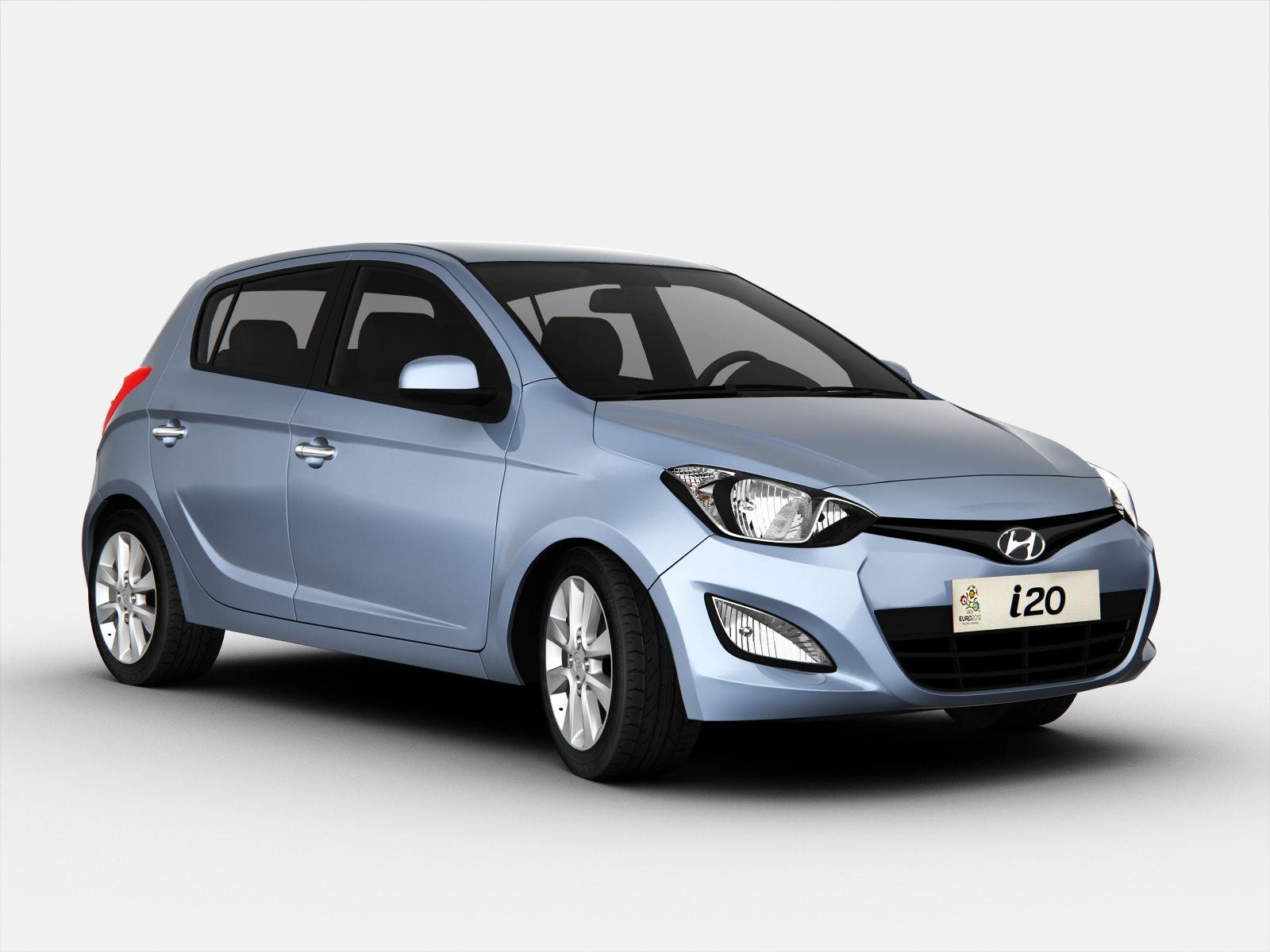 Hyundai i20 2013 3D Model .max .obj .3ds .fbx