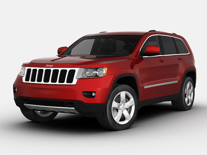 jeep grand cherokee 2012 3d model cgtrader. Black Bedroom Furniture Sets. Home Design Ideas