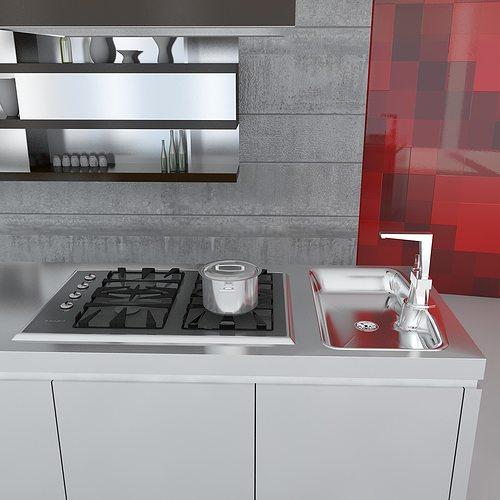 3d Max Kitchen Interior Design: Kitchen Minimal Scene 3D Model MAX OBJ 3DS FBX