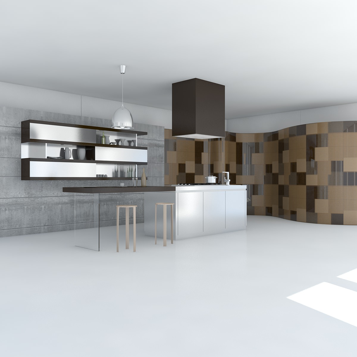 Kitchen 3D Model 3D Model Kitchen Minimal Scene  Cgtrader