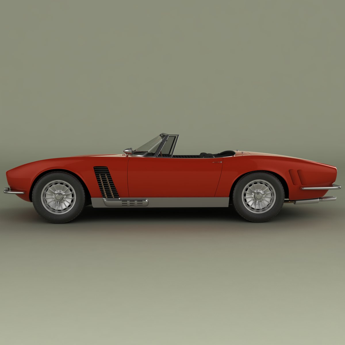 iso grifo convertible 1964 3d model max obj 3ds. Black Bedroom Furniture Sets. Home Design Ideas
