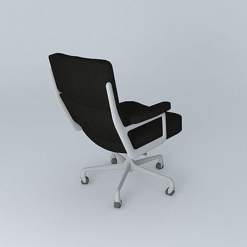 eames executive office chair 3d model max obj mtl 3ds fbx stl dae 1