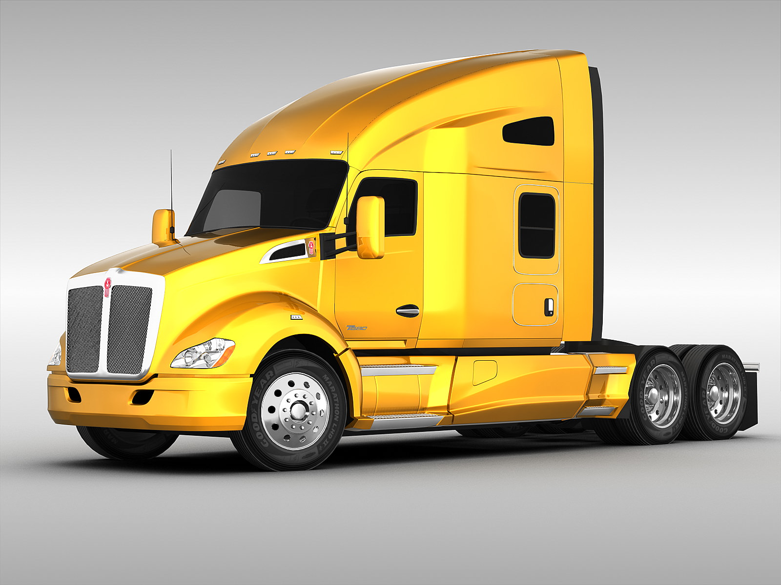 Kenworth T680 2012 3D Model Max Obj 3ds Fbx