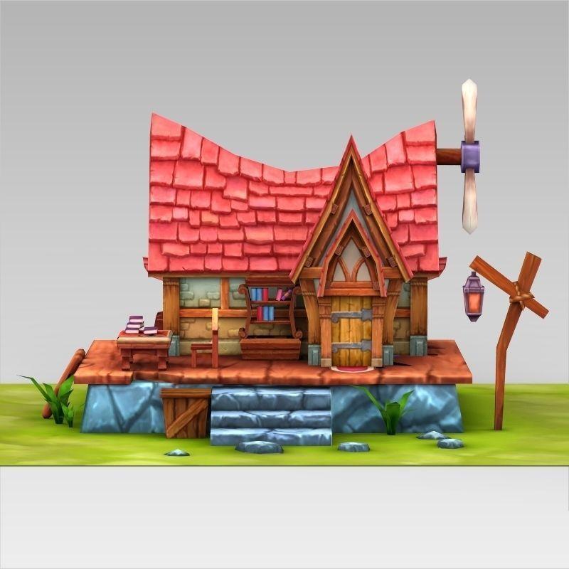 ... Fantasy Sweet Home 3d Model Low Poly Max Obj 3ds Fbx C4d Lwo Lw Lws ...