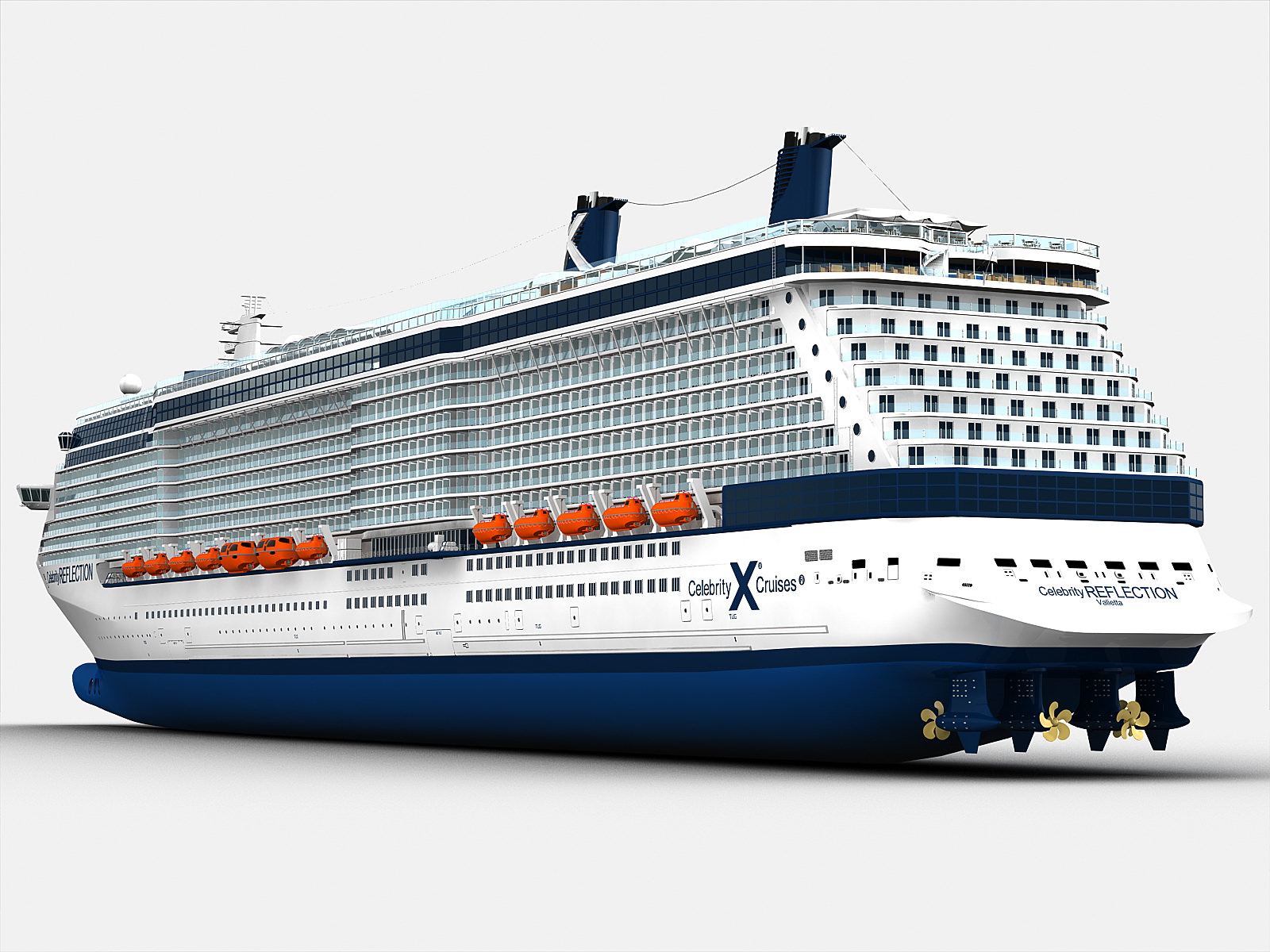 celebrity reflection cruise ship 3d model max obj fbx ma mb
