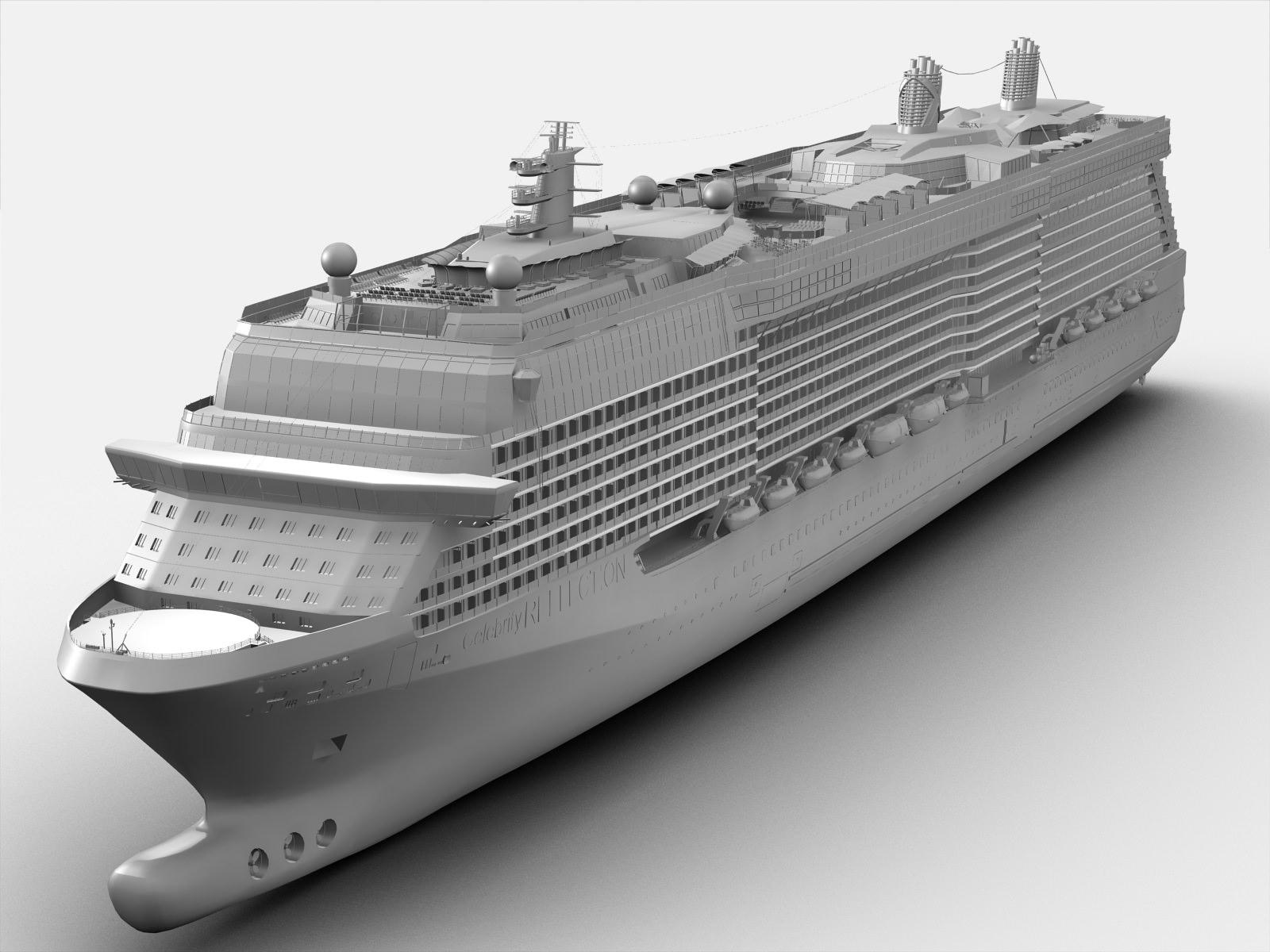 Celebrity Reflection Cruise Ship 3d Model Max Obj Fbx Ma