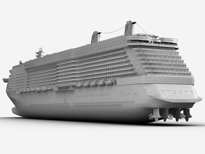 Celebrity Reflection Cruise Ship 3D Model .max .obj .fbx ...