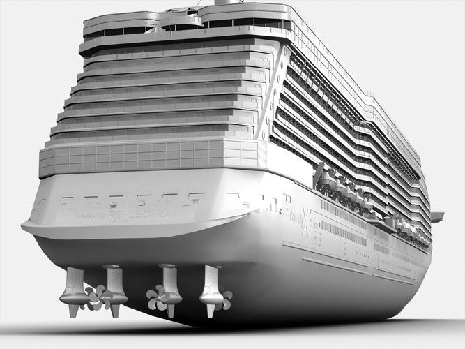 Celebrity Reflection Cruise Ship 3d Model Max Obj Fbx