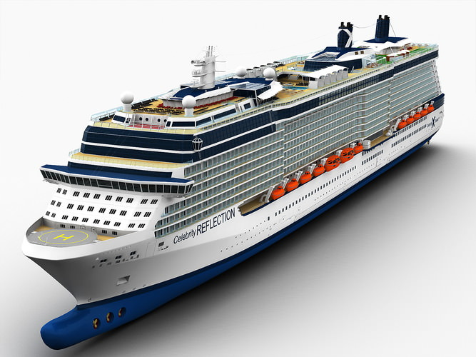 celebrity reflection cruise ship 3d model max obj fbx ma