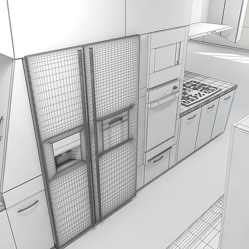Modern Kitchen Scene MAX 2011 3D Model MAX OBJ 3DS FBX