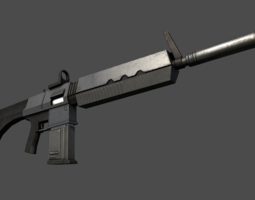 3D asset Assault Rifle Sci-Fi