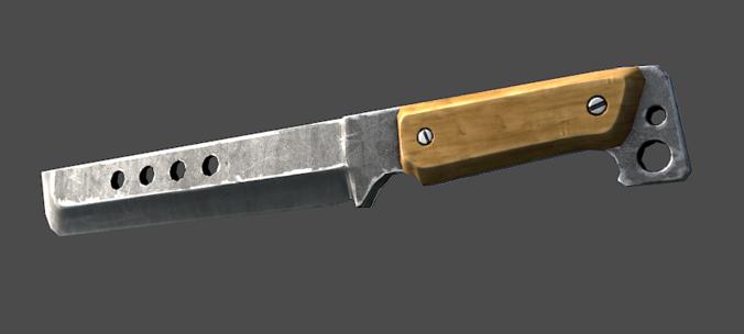 Knife 3D Model Game Ready Obj