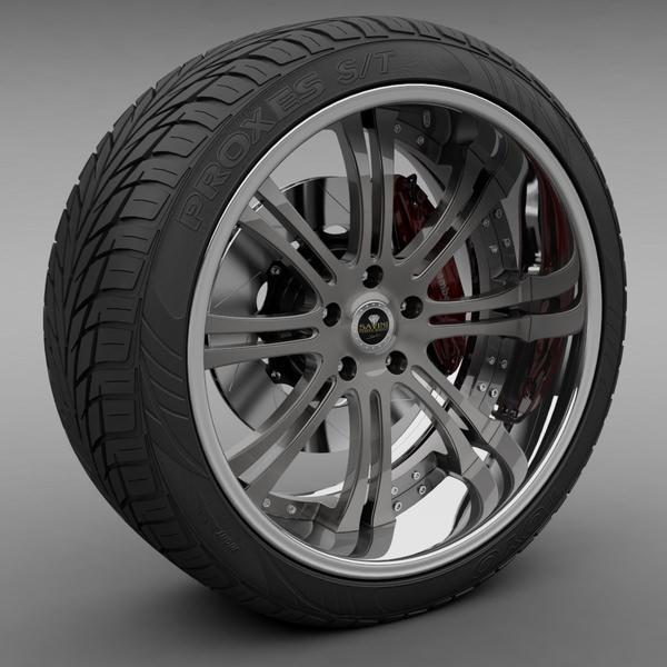 Savini Forged SV-27S Wheel and Tire