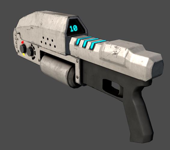 Sci fi laser rifle 3d model