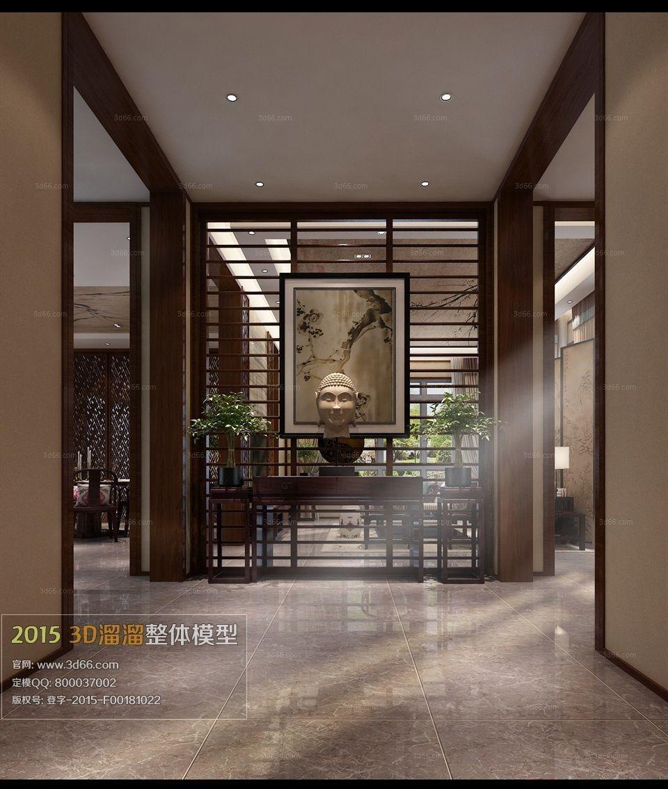 Home interior design 17 3d model max for Cg home designs