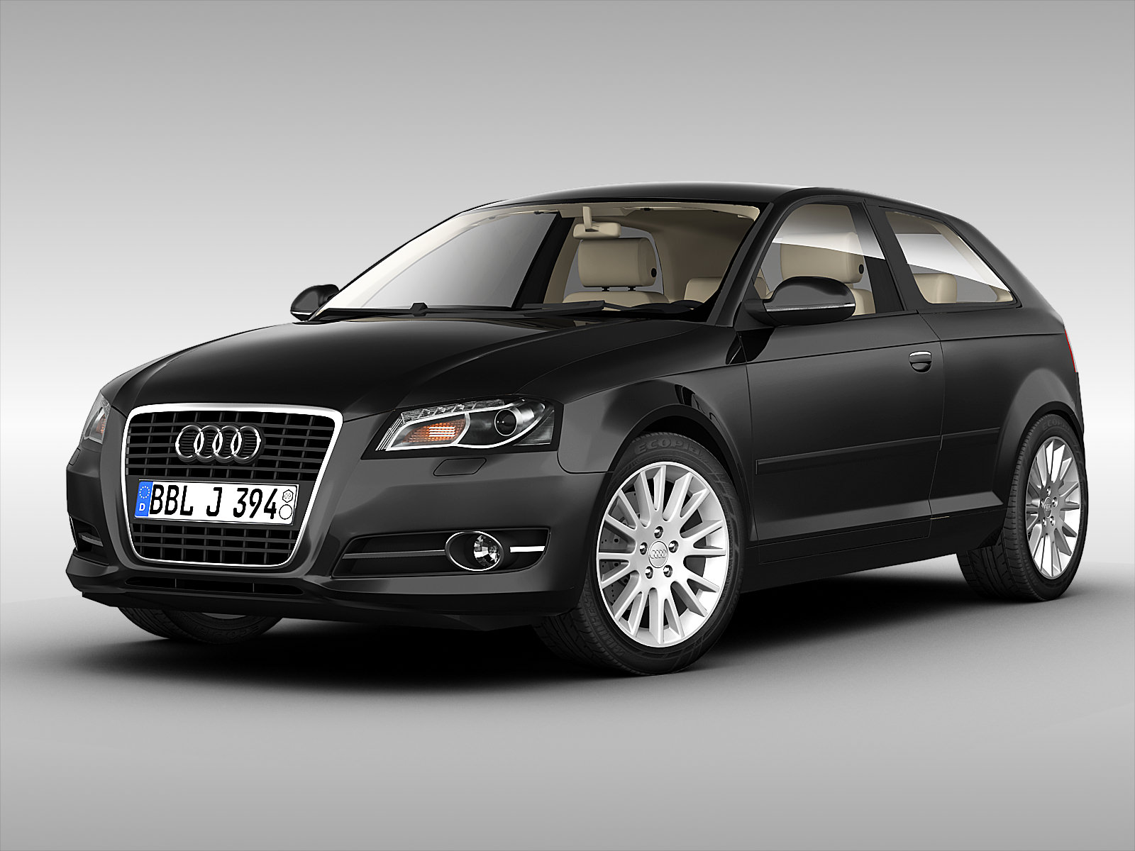 audi a3 2011 3d model max obj 3ds fbx. Black Bedroom Furniture Sets. Home Design Ideas