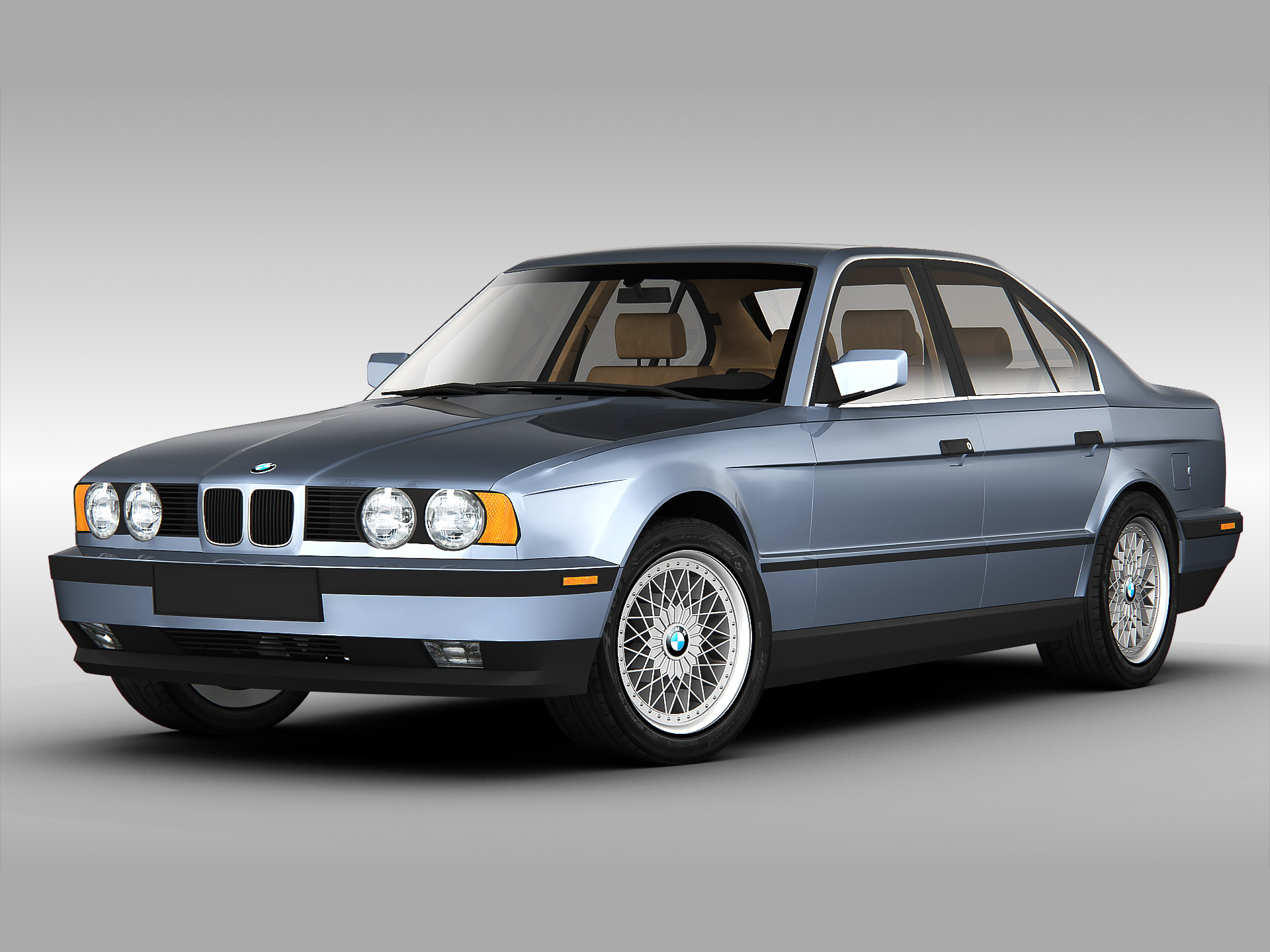 bmw 5 series e34 3d model max obj 3ds fbx. Black Bedroom Furniture Sets. Home Design Ideas