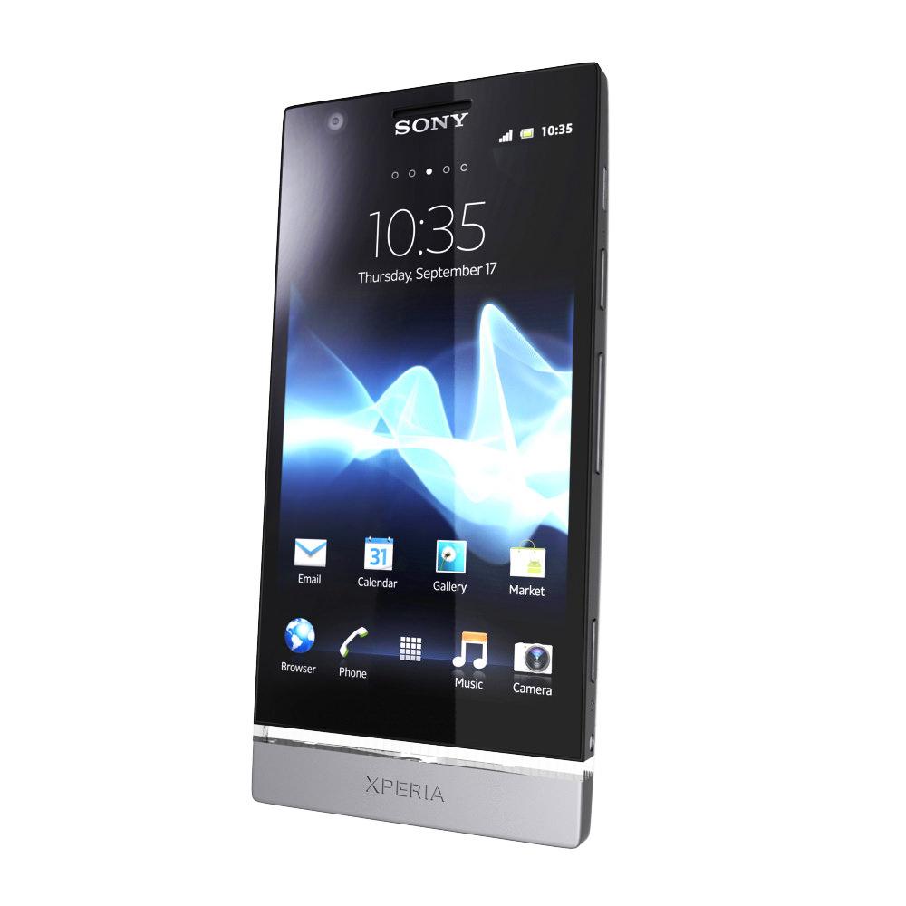 Sony Xperia P 3d Model Max Obj 3ds Fbx Cgtrader Com