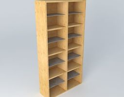 shelf cabinet doors hreg4fs 22 12 brw milano oak 3d model