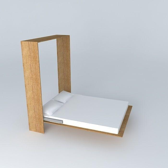 murphy bed 3d model 1
