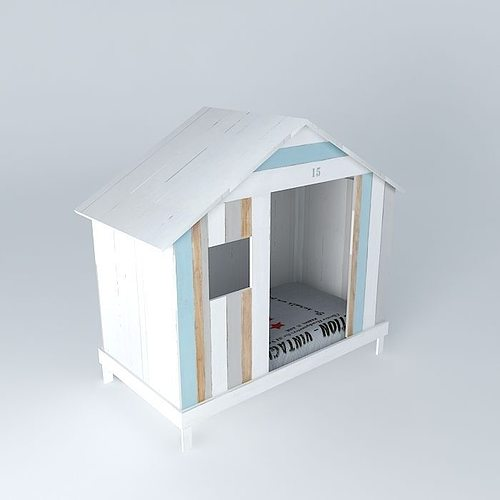 white child cabin bed ocean maisons du monde 3d model max obj 3ds fbx stl dae. Black Bedroom Furniture Sets. Home Design Ideas