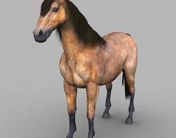 realistic muscular horse 3d model low-poly max obj 3ds fbx c4d lwo lw lws