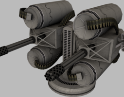 3D model realtime Bulletstorm gun variations