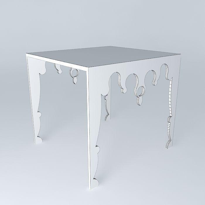 acrylic baroque side table 3d model max obj 3ds fbx stl dae 5