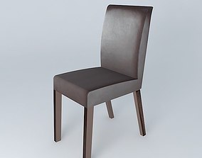 Brown chair ROTTERDAM houses the world 3D model