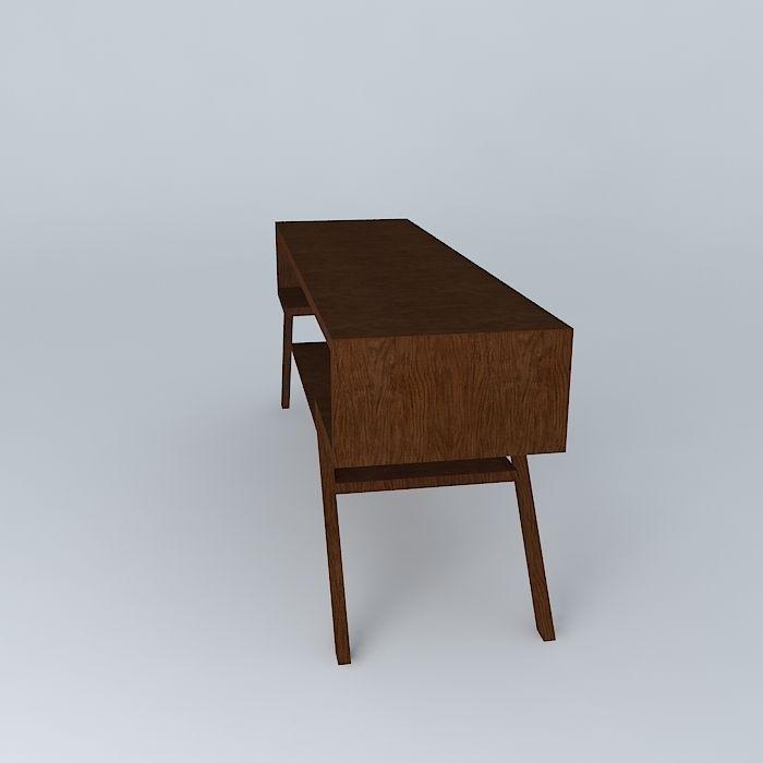 TV table free 3D Model MAX OBJ 3DS FBX STL DAE  CGTradercom -> Modèle Table Tv