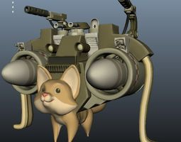 3D Killer Kitty Model