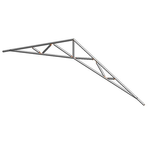 3d 14 common and scissors standard trusses cgtrader for Scissor roof truss prices