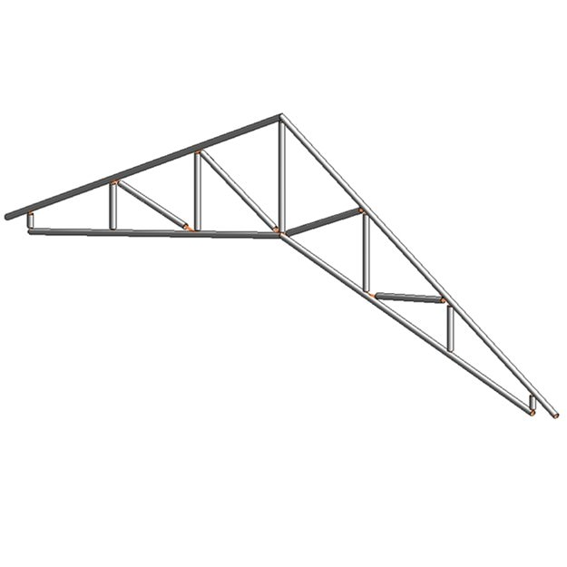 14 common and scissors trusses with heel 3d model rfa for Scissor roof truss prices