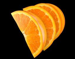 orange slice 3d model max obj