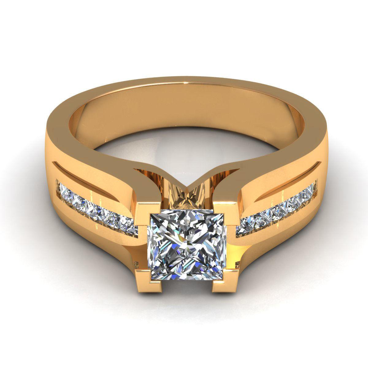 Princess Love Engagement Ring 3D Model 3DM