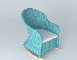 chair key west maisons du monde 3d model max obj 3ds fbx. Black Bedroom Furniture Sets. Home Design Ideas