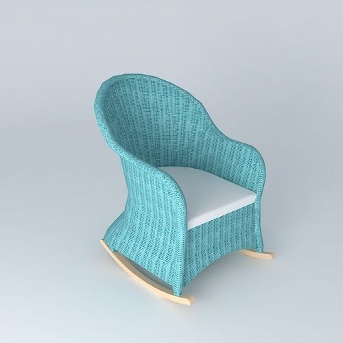 rocking chair blue child ocean maisons du 3d model max obj 3ds fbx stl dae. Black Bedroom Furniture Sets. Home Design Ideas