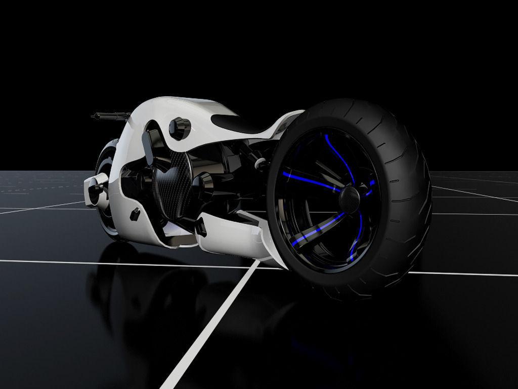 Futuristic Motorcycle Concept 3D Model .obj .fbx .ma .mb ...