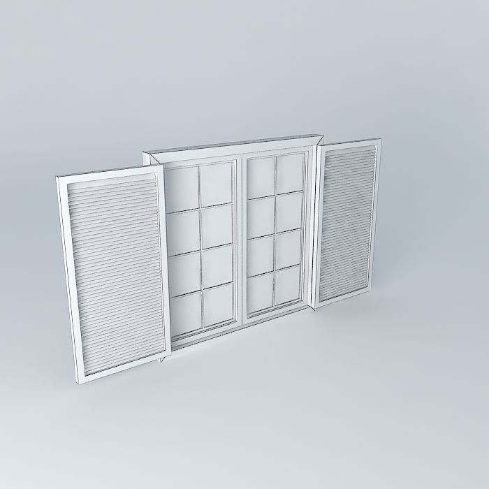 Window window free 3d model max obj 3ds fbx stl dae for Window 3d model