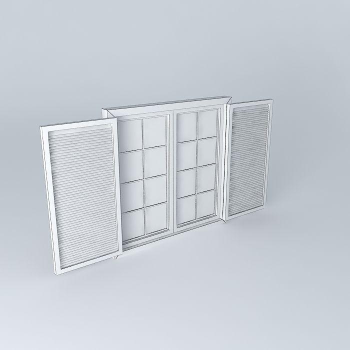 Window window free 3d model max obj 3ds fbx stl dae for Window 3d model