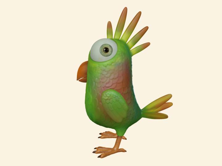 Toon Bird OBJ and Maya format