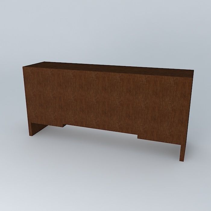 Buffet sideboard free 3d model max obj 3ds fbx stl dae for Sideboard 3d