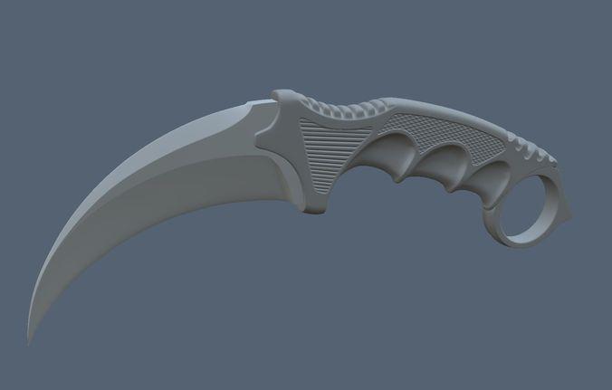 Printable Models Of Karambit Knife 3d Model 3d Printable