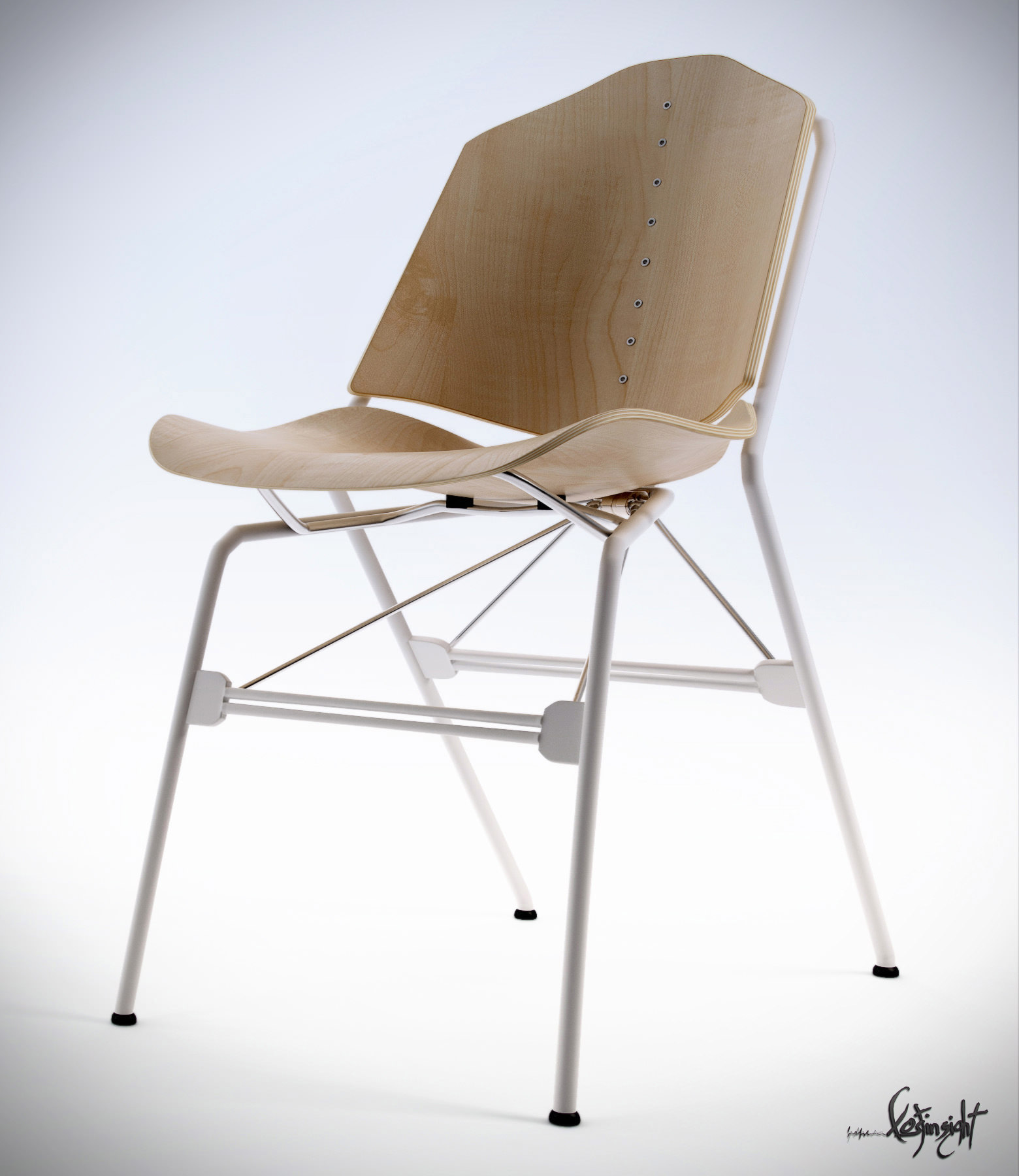 Vert chair free 3d model max for New model chair design